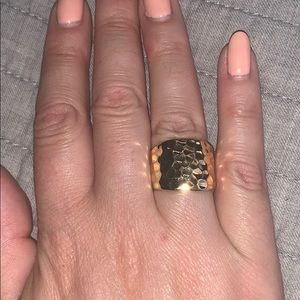 Premier Designs hammered cocktail ring